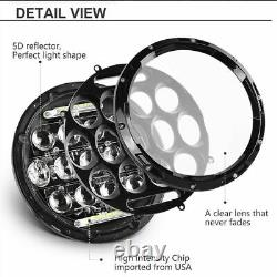 Fit Freightliner Century Class 7inch Led Phare Salut / Lo Project & 4'' Fog Light