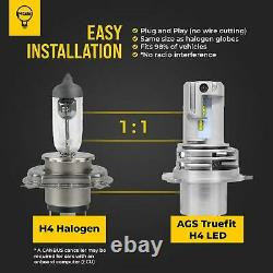 H4 Led 9003 Lampe De Phare Kit Ampoules Globes High Low Beam