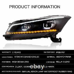 Lampes Phares Led Lampes Phares Gauche + Droite Pour 2008-2012 Honda Accord
