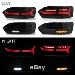 Led Personnalisé Phares Withdual Beam + Fumés Taillights 2011-2014 Vw Jetta