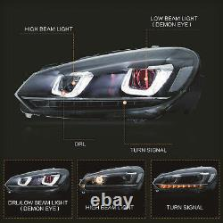 Phare Led Avecdemon Eyes+smoked Red Taillight Pour 10-13 Golf Mk6 12-13 R
