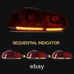 Phare Led Demon Eyes+red Clear Taillight Pour 10-13 Golf Mk6 12-13 Golf R