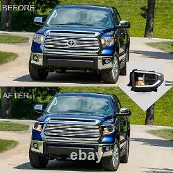Phares Led Complets All Black Personnalisés Pour 2014-2015 2017-2020 Toyota Tundra