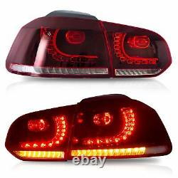 Phares Led + Feux Arrière Red Clear Pour 10-13 Golf Mk6 12-13 Golf R