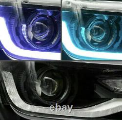 Phares Vland Pour 2014 Camaro 2015 Dual Beam Projector Led Rgb Drl Sequential