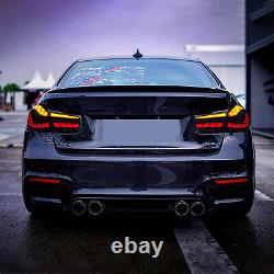 Pour 12-18 Bmw F30 F35 F80 M3 Série 3 Dynamic Smoked Full Led Feux Arrière Lampes