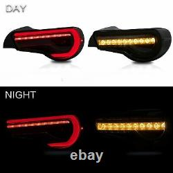 Pour 13-16 Scion Fr-s 17-19 86 13-20 Subaru Brz All Smoked Led Taillights