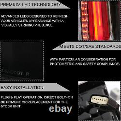 Pour 2015-2020 Chevy Tahoe Suburban Clear Escalade Style Taillights Led