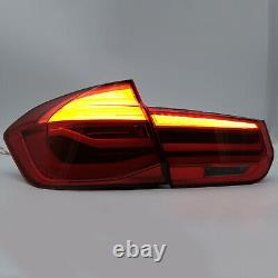 Red Led Tail Lights Sequential Turn Signal For 2012-2018 Bmw 3er 3 Series F80