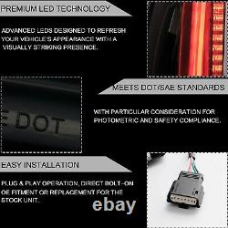 Taillights Fumés Led Custom Escalade Style Pour 15-20 Chevy Tahoe Suburban