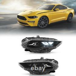Vland Clear Full Led Headlights Remplacement Direct Pour 2018-2021 Ford Mustang