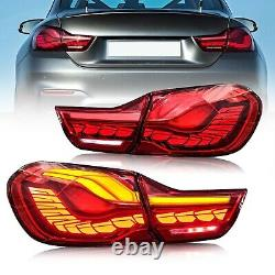 Vland Gts Oled Style Full Led Red Tail Lights Pour 14-20 Bmw F32 F33 F36 F82 F83