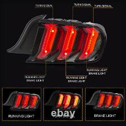 Vland Modded Smoked Full Led Taillights With Sequential Turn For 2015-2020 Mustang