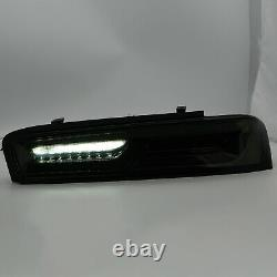 Vland Modded Smoked Tail Lights Withsequential Turn For 16-18 Chevrolet Camaro