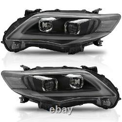 Vland Moded Pour 2011-2013 Corolla Avec Drl Led Headlights Assemblage
