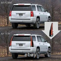 Vland Moted Escalade Style Taillights Led Pour 15-20 Chevy Tahoe Suburban Smoked