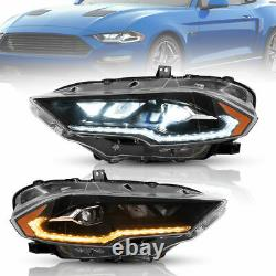 Vland Phare Led Drl Remplacement Amber Pour Ford Mustang 2018-2020 Gauche+droite