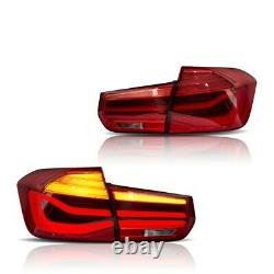 Vland Rose Rouge Led Sequential Taillight Pour 12-18 Bmw F30 3er 3 Série F80 M3